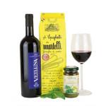 Vino rosso und Pasta