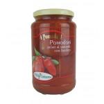 Geschälte Tomaten im Glas mit Basilikum (Puma) 550 g