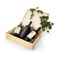 Holzkiste für 3 Flaschen