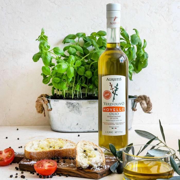 """Olio extra Vergine """"Verd'olivo Novello"""" (Agrestis) 0,50 l 2020"""