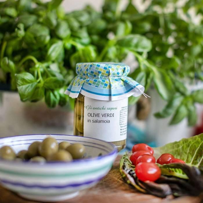 Grüne Oliven Sant'Agostino (Terre di Puglia) 290 g