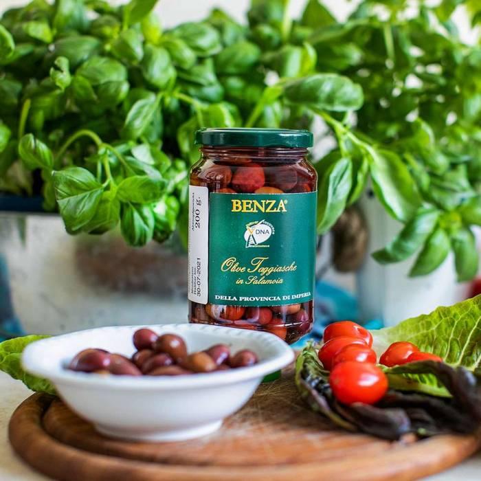 Taggiasca Oliven in Salzlake (Benza) 200 g