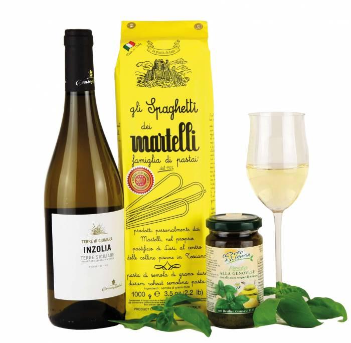Vino bianco und Pasta