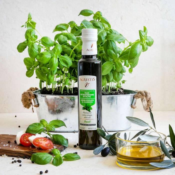 Olio extravergine di Oliva aromatizzato al Basilico (Agrestis) 0,25 l