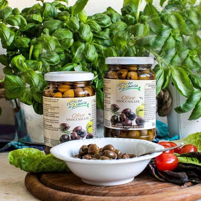 Entkernte Oliven in Olivenöl (Anfossi) 300 g