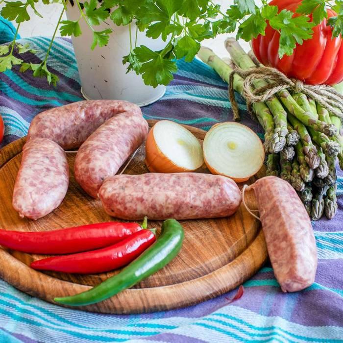Salsicce di puro Suino (Mori) >300g (Preis/St.)